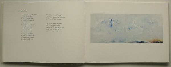 gemalt nach der Interpretation von Barry McDaniel, Gesang - Jonathan Adler, Klavier; mit einem Essay von Margret Schütte; Normalausgabe * 300 Expl., num., sign., 23 x 31 cm, 60 S., Leinen, 24 Farbabb., Text Margret Schütte, Berlin 1996<br><h3>40,- €</h3>