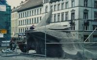 Görlitz Obermarkt, h = ca. 5,oo m (unvollendet, temporär)